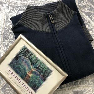 Men's DKNY Jeans 1/4 Zip Long Sleeve Sweater XL